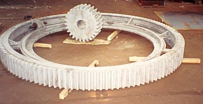Nowe koło napędowe i zregenerowany wieniec